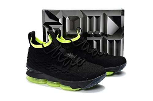 huge discount d568c 21a19 2018 Lebron XV Black/Yellow and Blue - Basketball Shoes ...