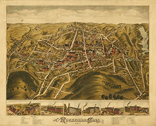 Rockville, Connecticut - Panoramic Map (16x24 SIGNED Print Master Giclee Print w/Certificate of Authenticity - Wall Decor Travel Poster)