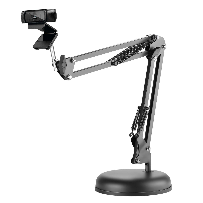 Neewer Adjustable Desktop Suspension Boom Scissor Arm Stand Holder with Base for Logitech Webcam C922 C930e C930 C920 C615