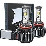 Various Models 60W LED Headlight Bulbs All-in-One Conversion Kit,7200 Lumen (6000K Cool White) H8 H9 H11