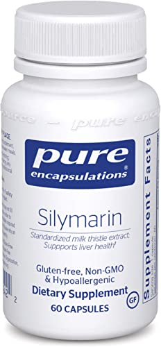 Pure Encapsulations – Silymarin – Hypoallergenic Supplement with Concentrated Milk Thistle Extract for Liver Support – 60 Capsules