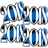 Blue Grad 2018 - Best is Yet to Come - 2018 Decorations DIY Royal Blue Graduation Party Essentials - Set of 20