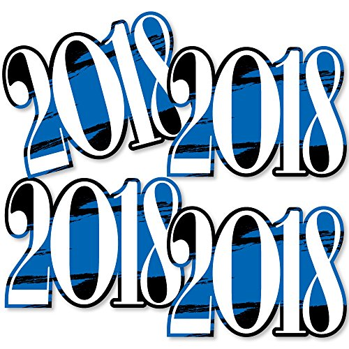 Blue Grad 2018 - Best is Yet to Come - 2018 Decorations DIY Royal Blue Graduation Party Essentials - Set of (Graduation Table Centerpiece Ideas)