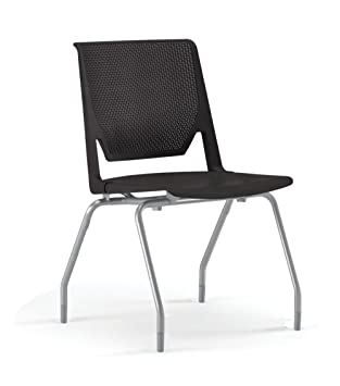 Haworth Very Side Chair Felt Glide Casters - Armless - Perforated Back - Metallic Silver  sc 1 st  Amazon.com & Amazon.com: Haworth Very Side Chair: Felt Glide Casters - Armless ...