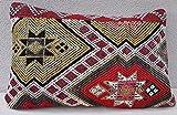 """Turkish Kilim Pillow Rug Vintage Cushion Cover Antique Pillows Sofa Art 16 x 24"""""""