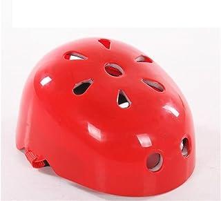 HSDDA Casco Deportivo Casco de Seguridad para niños Casquillo de disipación de Calor en Forma de Ciruela Casco de equitación Ajustable para niños (Rojo) Proteja su Cabeza