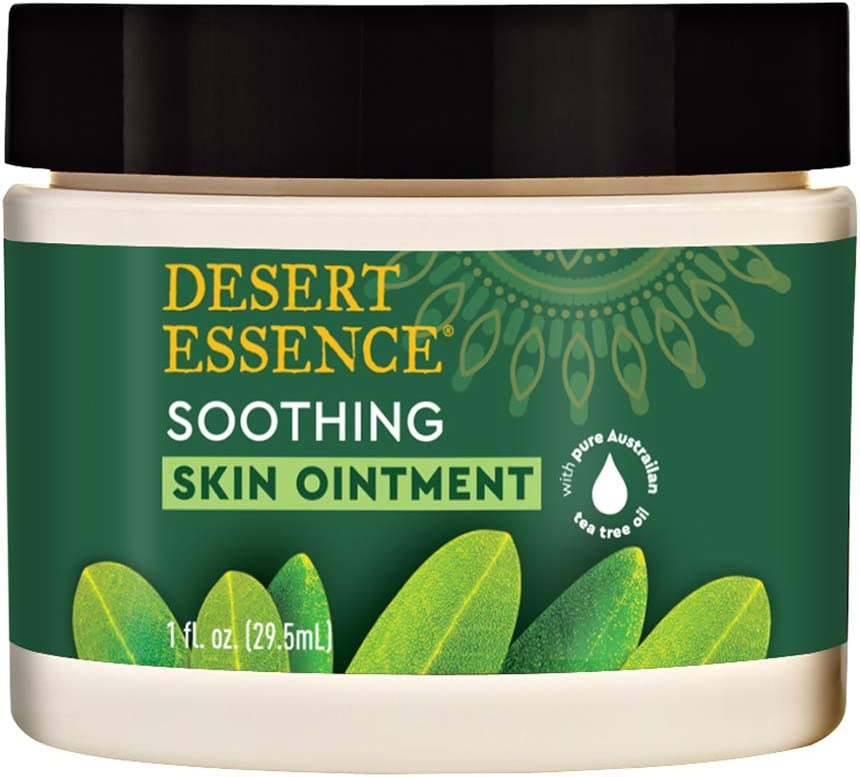 Desert Essence Tea Tree Oil Skin Ointment - 1 Fl Ounce - Jojoba & Lavender Essential Oils - Vitamin E - Sweet Almond Extract - Moisturizer For Dry Skin, Skin Irritations, Cuticles