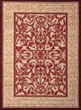 United Weavers of America Dallas Baroness Rug, 5 x 8', Red