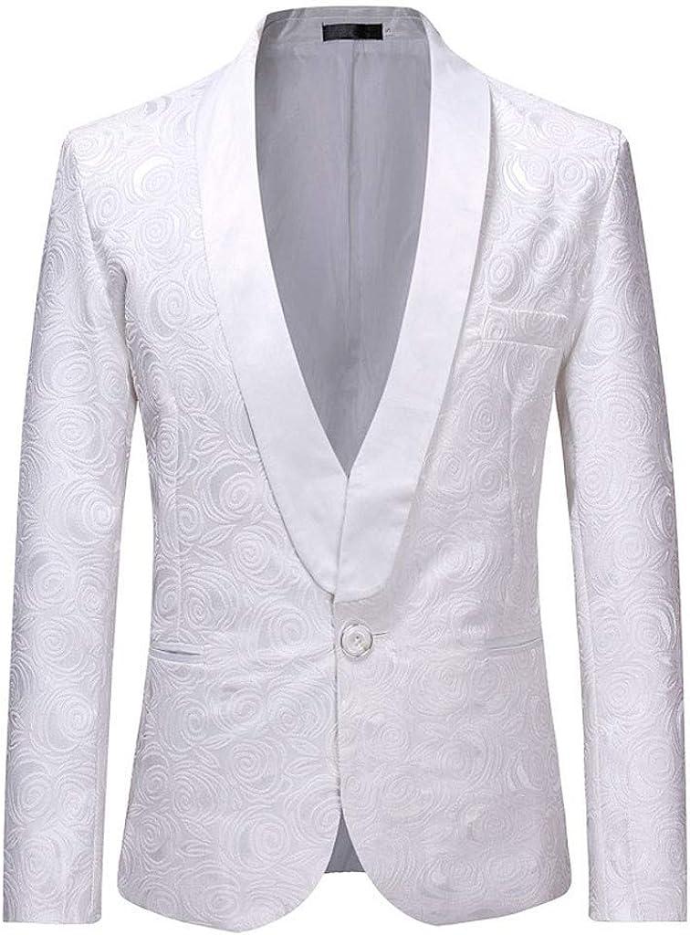 KASAAS Wedding Suits for Men, Vintage Floral 3 Pack Business Prom Party Blazer Vest Jacket Tops Pants Set C-jacket+pants