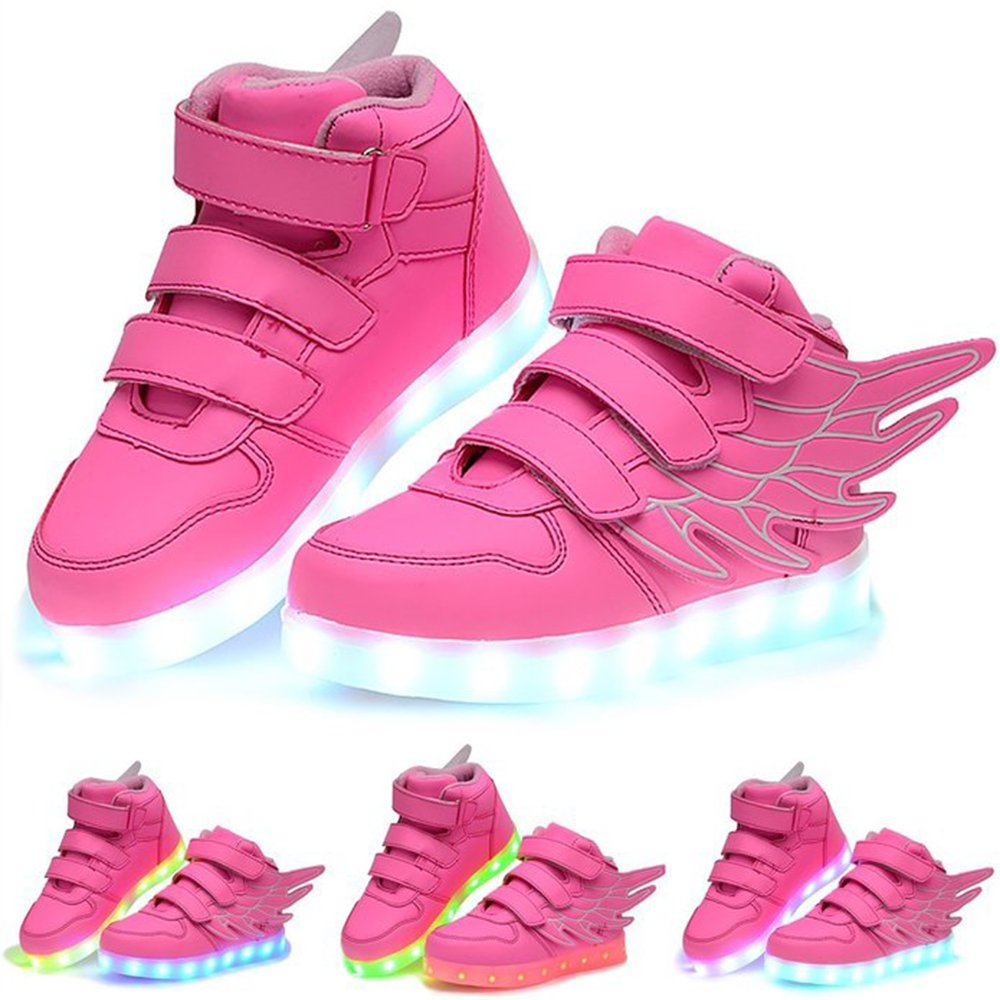 Luckfugui Little Big Kid boy girl USB Flashing LED Shoes Sneaker PK35