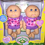 Cabbage Patch Kids Cuddle n Love Twins, Caucasian Girls, Blue Eyes