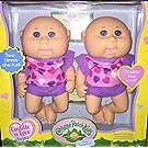 Cabbage Patch Kids Cuddle 'n Love Twins, Caucasian Girls, Blue Eyes