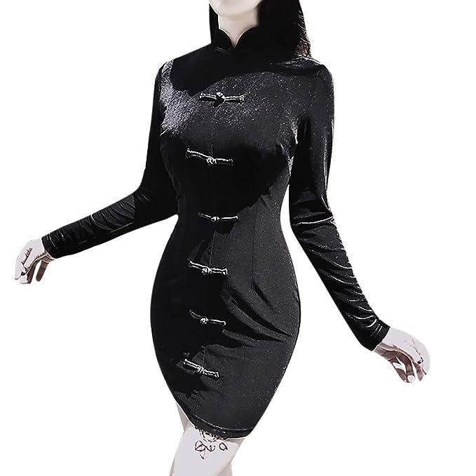 Vestidos De Fiesta, Mujer Gótica Punk Perspectiva Vestido De ...