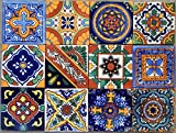 40 Mexican Talavera Tiles Hand Painted 6''x6'' Stairs Backsplash