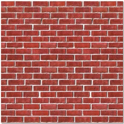 Brick Wall Backdrop Party Accessory (1 count) (1/Pkg) (Pattern Accessories Plastic Canvas)