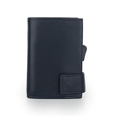 ce8af11496dae SecWal 2 Kreditkartenetui Geldbörse RFID Leder 9 cm  Amazon.de ...