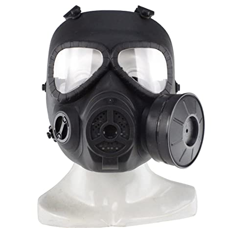 PeleusTech® WST Head Mask Full Face Single Canister Electric Ventilative Biochemical Gas Mask[No