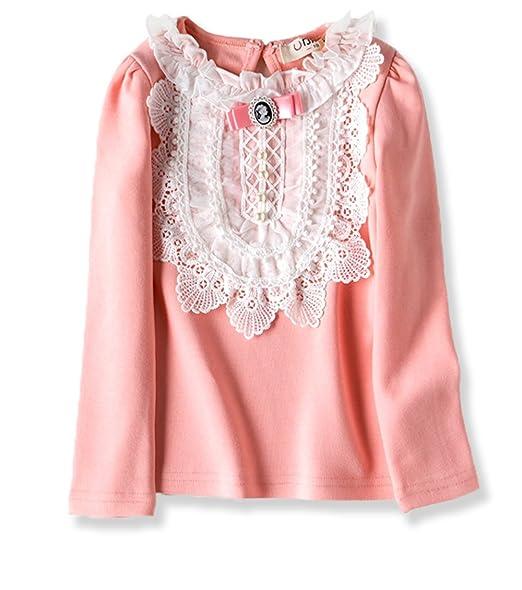 Amazon vyu little girls long sleeve flower blouse 2 8 year kids vyu little girls long sleeve flower blouse 2 8 year kids autumn cotton lace tops mightylinksfo