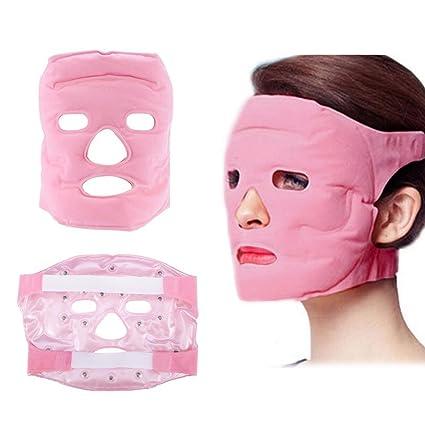 Máscara de masaje Turmalina Gel Magnetita Facial Adelgazante Mascarilla Imán Reparación de la piel Masaje Herramienta