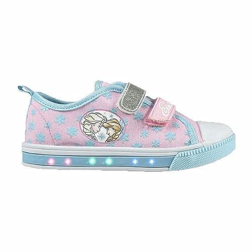 4fe3533f6935 Frozen 2300002924 Scarpe Tela, Luce LED, Bambina, Rosa, A Strappo, Elsa