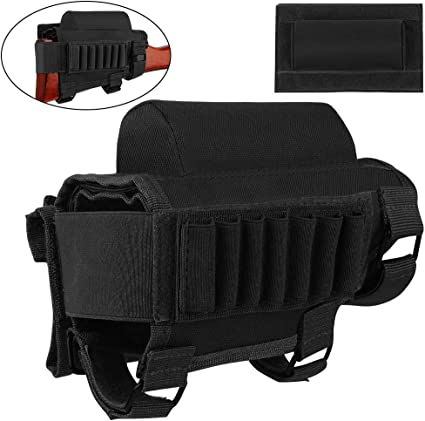 Tactical Buttstock Cheek Rest with Rifle Shell Holder for 7.62.308.300 Winmag