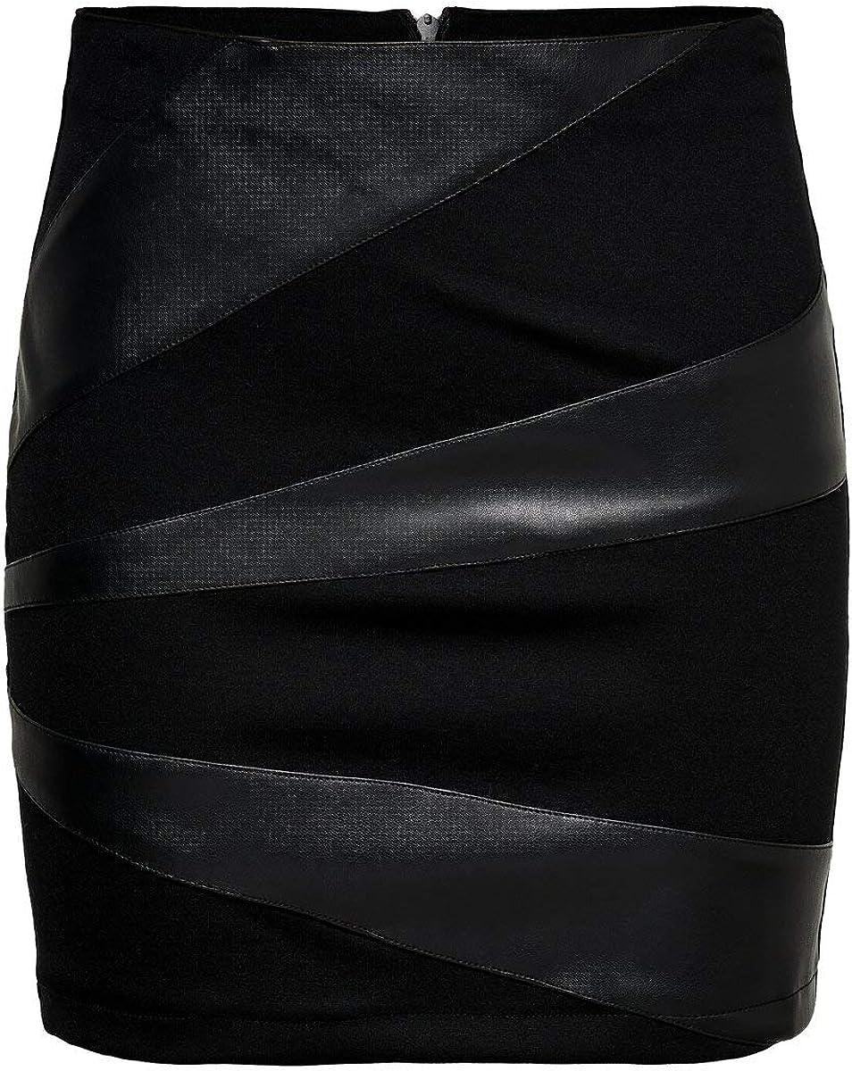 Only Onldinas Faux Leather Skirt Otw Falda para Mujer