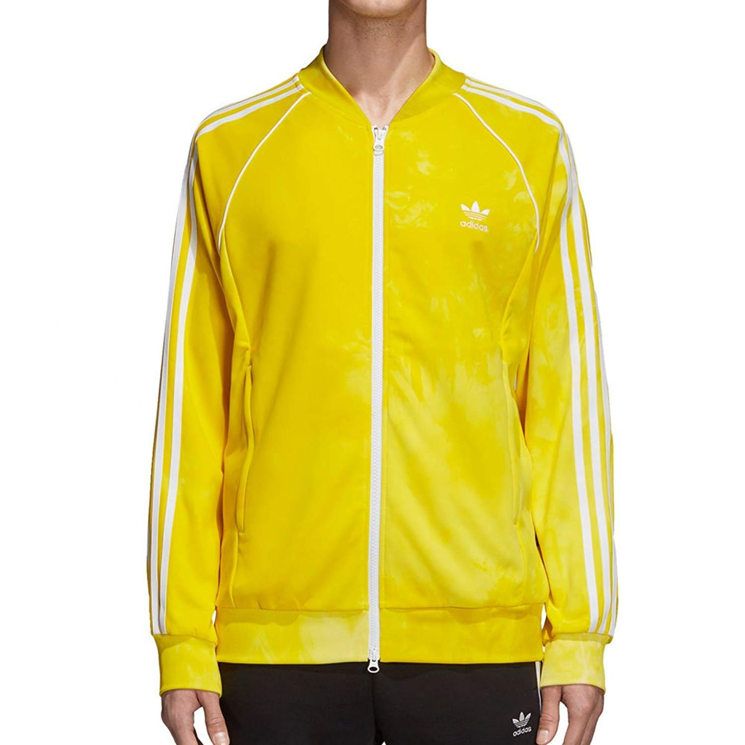 154b3475cb20b adidas Mens Pharrell Williams hu Holi SST Track Jacket - Yellow ...