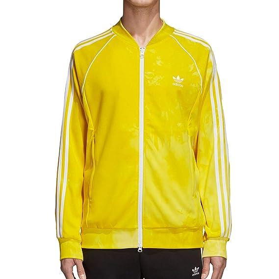 afef0ad46dfe0 adidas Mens Pharrell Williams hu Holi SST Track Jacket - Yellow CW9106   Amazon.co.uk  Clothing