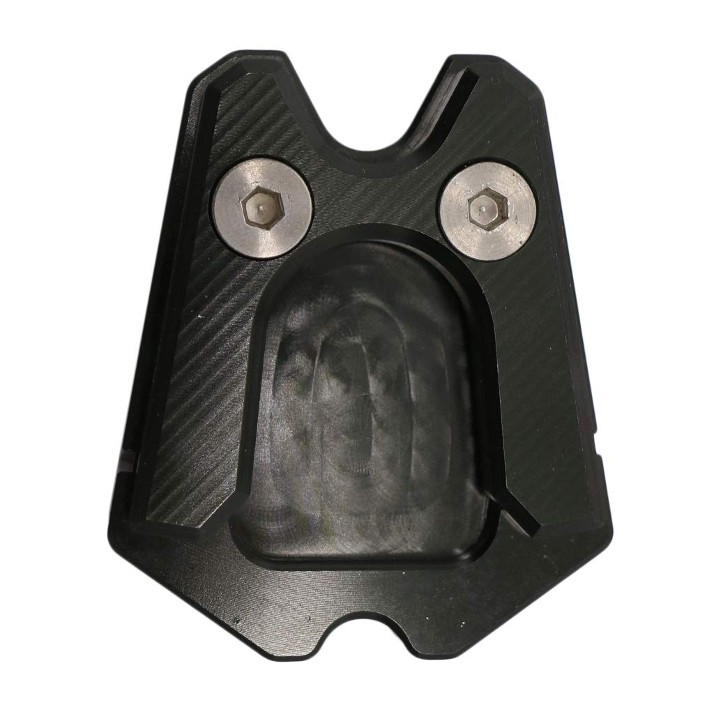 B Baosity Motorcycle Kickstand Foot Side Stand Extension Pad Support Fits for Vespa GTS GTV 300ie 3Vie Helps Park Black