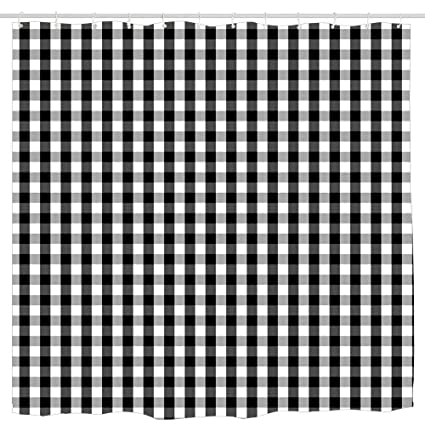 3980971c63416 Amazon.com: Wlioohhgs Small Black White Gingham Checked Square ...