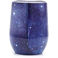 12 Oz Wine Glass Insulated Stainless Steel Stemless U-Shaped Portable Travel Cup Double Wall Vacuum Wine Tumbler for Home, Office,Perfect for Wine,Coffee, Drinks,Champagne,Cocktails