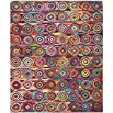 Cheap Safavieh Nantucket Collection NAN143A Handmade Abstract Geometric Pink and Multi Cotton Area Rug (10′ x 14′)