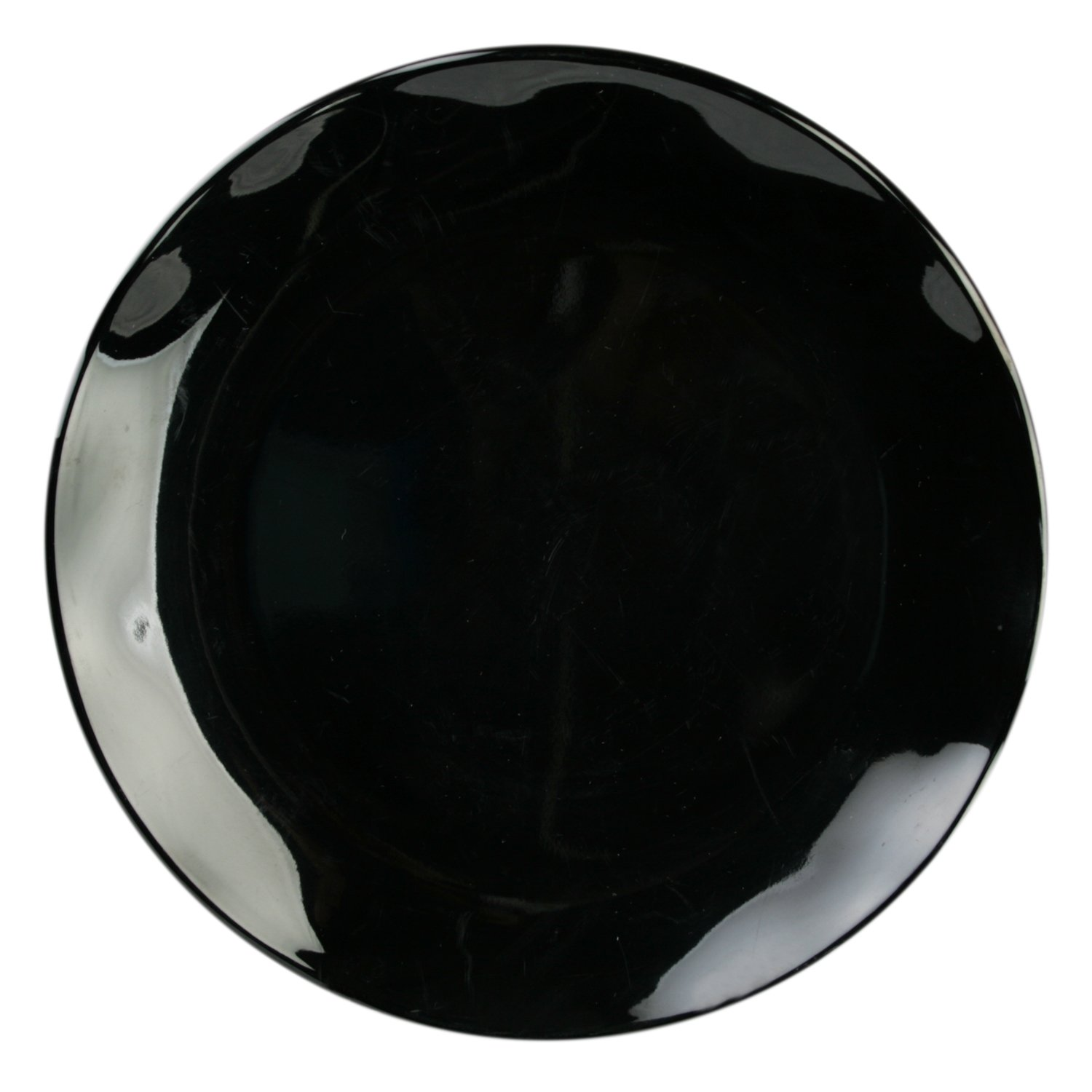 Excellante Mica Black Collection 10-1//2-Inch Round Dinner Plate Two-Toned