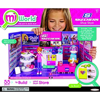 MiWorld Deluxe Skechers with Doll Environment 55 Piece Set: Toys & Games