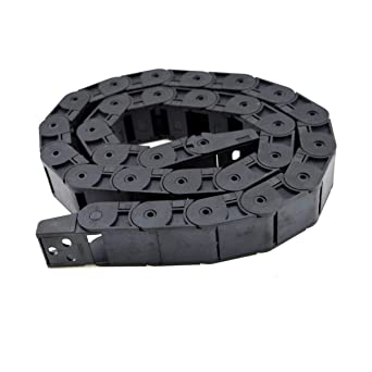 URBEST 10mm x 20mm Black Plastic Flexible Nested Semi Closed Drag Chain Cable Wire Carrier 1M for Electrical Machines