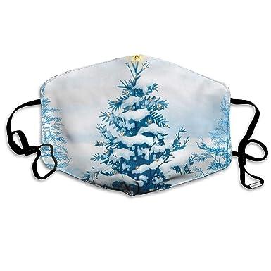 Amazon.com: Máscara de Navidad con diseño de árbol de nieve ...