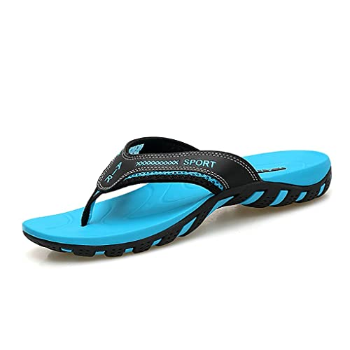 63a9553efca2 Crafeel Mens Casual Flip Flops Beach Summer Sandals Outdoor Slippers with  Arch Support for Unisex (