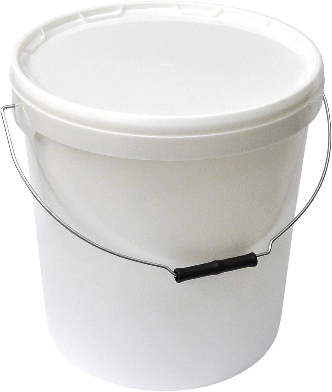 Juego de 4 Cubos con tapa (20L), color blanco