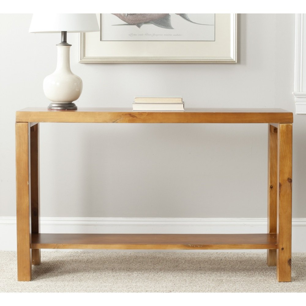 Amazon.com   Safavieh American Home Collection Lahoma Pecan Console Table    Tables