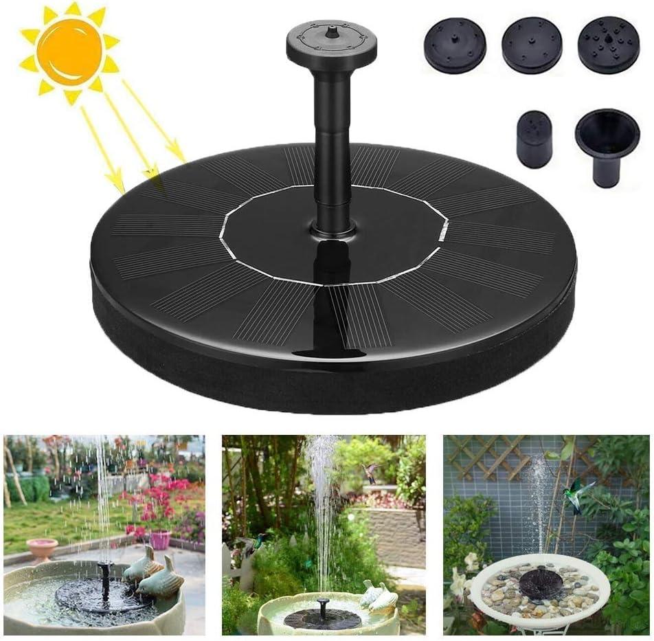 Mini Bomba de Fuente Solar, Jardín Flotante Bomba de Agua Solar de 50cm de Altura, con 4 Cabezas de Boquillas Diferentes, Adecuado para Estanques, Piscinas, Jardines, Peceras, etc.: Amazon.es: Deportes y aire
