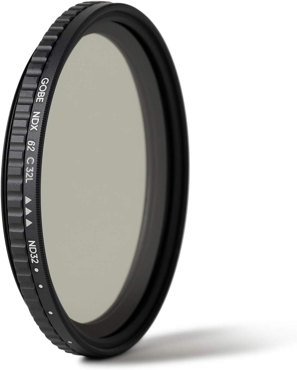 1-5 Stop Variable ND Lens Filter Gobe 46mm ND2-32 3Peak