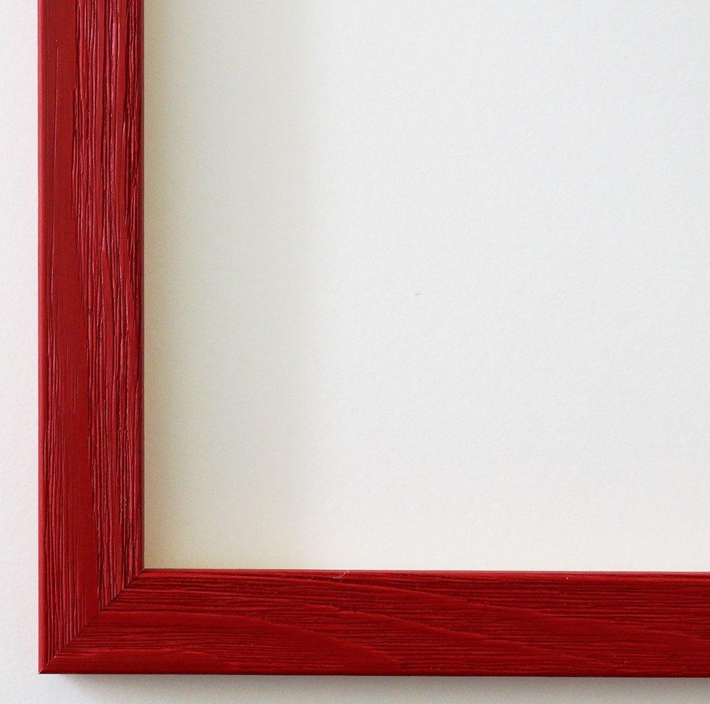 Bilderrahmen Siena Rot 2,0 - DIN A2 (42,0 x 59,4 cm) - WRF - 500 Varianten - alle Größen - handgefertigt - Galerie-Qualität - Antik, Barock, Landhaus, Shabby, Modern - Fotorahmen Urkundenrahmen Posterrahmen