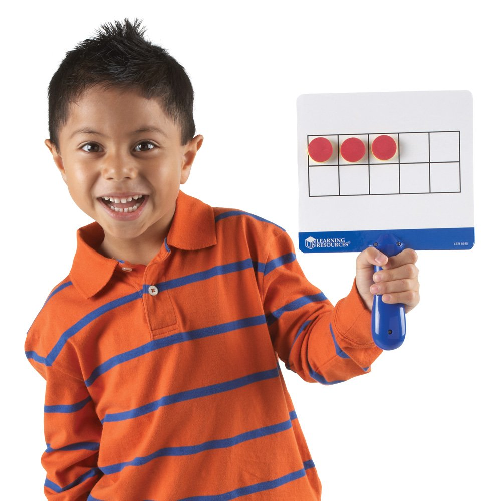 magnetic ten frames board paddles for kids