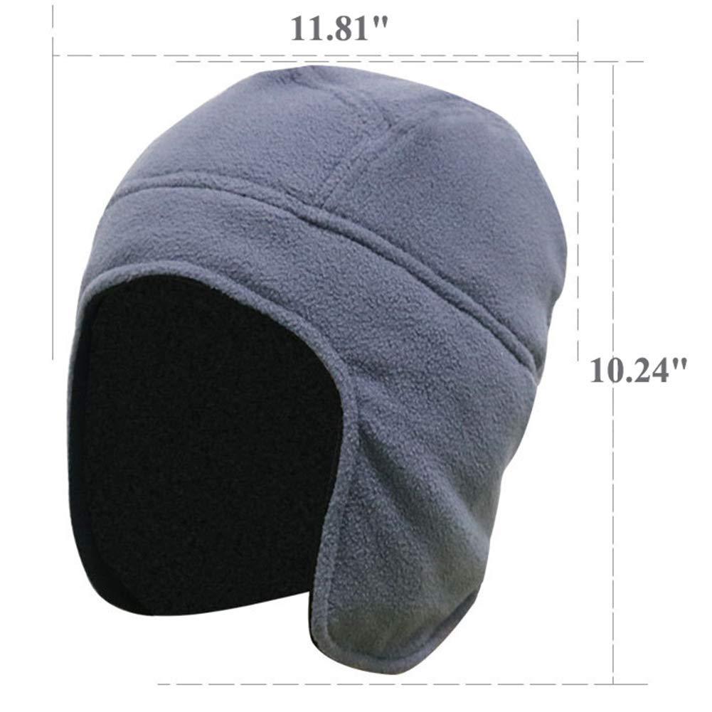GESDY Unisex Fleece Thermal Skull Caps Winter Warm Earflaps Beanie Ski Hats