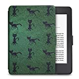 WALNEW Amazon Kindle Paperwhite Case Lightest and Thinnest Premium Leather Smart Protective Cover for Kindle Paperwhite with Auto Wake/Sleep Function,Black Cat