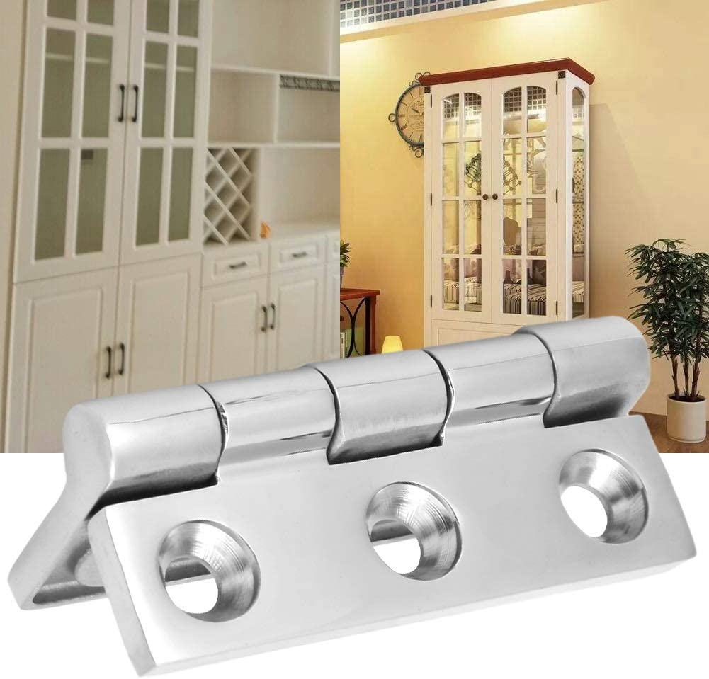 2Pcs 6 Holes Stainless Steel Ball Bearing Butt Hinge Home Door Hardware Accessories Hinge