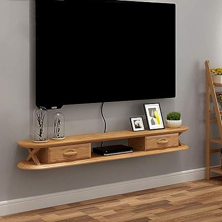 FENG-estante Flotantes Estante de Pared Soporte para televisor Gabinete de Entretenimiento Estante de exhibición de Rack Flotante Consola Organizador de Consola para DVD Caja de Cable (Color : B): Amazon.es: Hogar