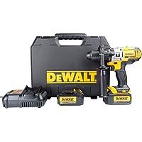 """Furadeira/Parafusadeira de impacto 1/2"""" 20 V com 2 baterias, DeWalt, Amarelo e Preto"""
