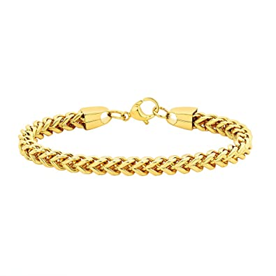 Bebold Gold Stainless Steel Curb Design Fashion Bracelet For Men