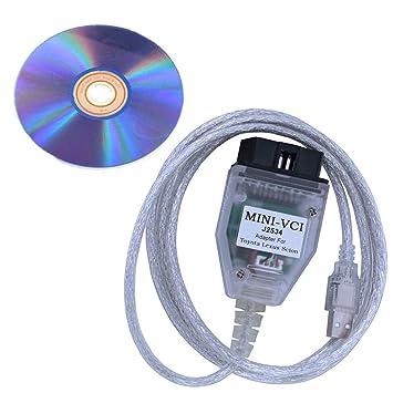 MINI-VCI J2534 OBD2 USB Interface for Toyota Firmware V1.4.1 Software V13.00.022